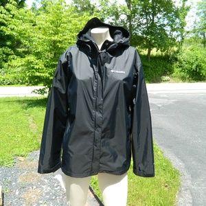 Columbia Omni Tech Nylon  Lined XL Black Jacket